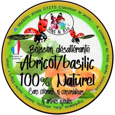 BOISSON DESALTERANTE ABRICOT/BASILIC