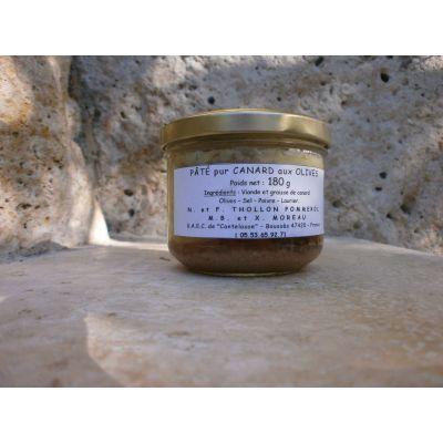 Pâté pur canard aux olives vertes et laurier