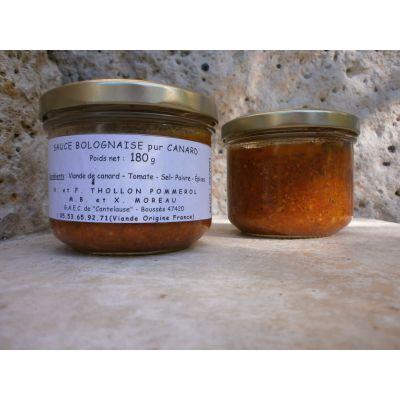 Sauce Bolognaise pur canard