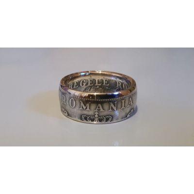 Bague pièce de 500 Lei de Roumanie en argent (coin ring)
