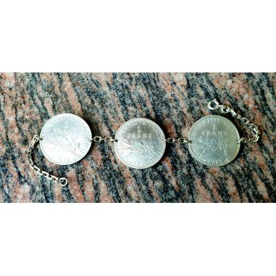 Bracelet pièces 1 Francs Semeuse en argent