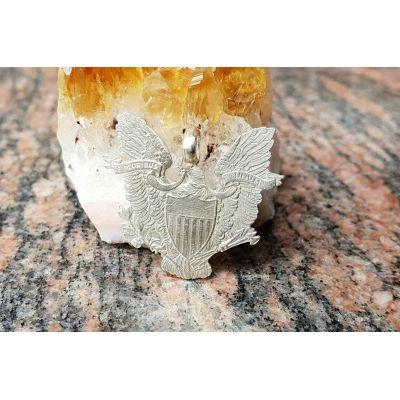 """Pendentif en argent avec pièce de 1 Dollar""""American silver Eagle"""" découpée a la main"""