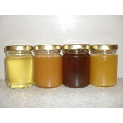 Petit pot de miel pour tables mariage, baptême, anniversaire..125g.