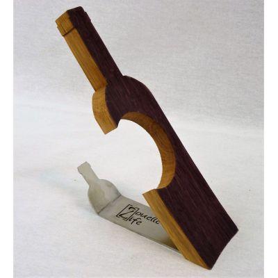 Présentoir à bouteille fonctionnel et décoratif issu de douelles de barriques de vin des plus grands crus Bordelais