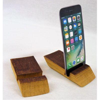 Le DouellePhone : le support pour votre téléphone multi-position et issu de douelles de barriques de vin des plus grands crus Bordelais