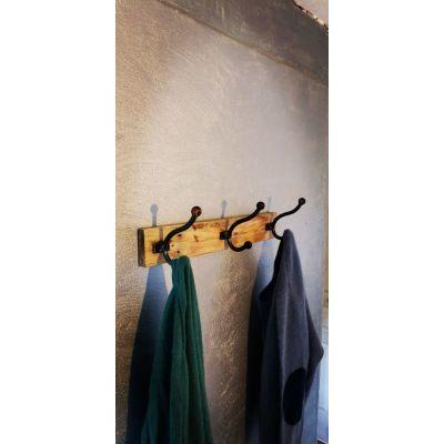 Porte manteau métal et bois