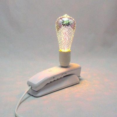 Lampe téléphone blanc ampoule LED déco