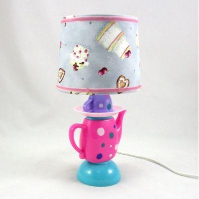 Lampe 002 Enfant Imprimé Jour Dinette Gâteaux Chevet Abat 80kOXnwP