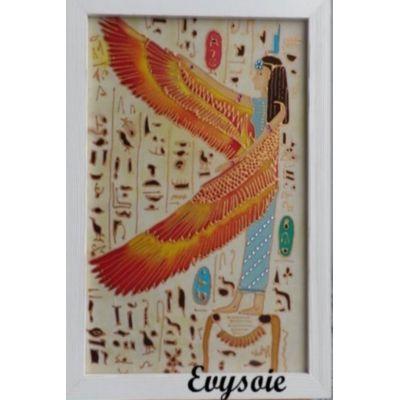 Tableau en peinture sur soie, déesse égyptienne