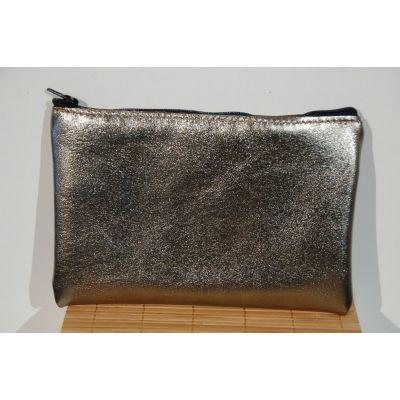 Pochette cuir doré/ organiseur de sac