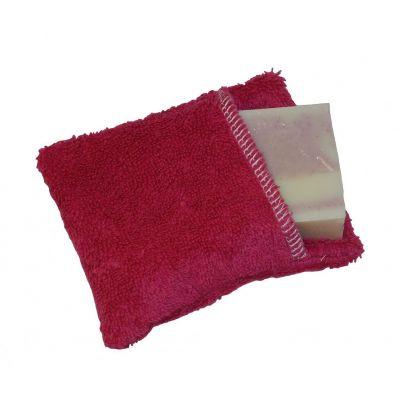 Moussette coton bio de couleur prune