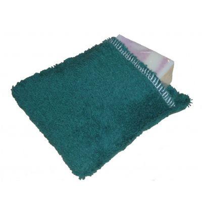Moussette coton bio de couleur vert foncé