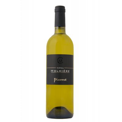 Château Molhière Pierrot Blanc Sec 2014 Côtes de Duras 6 bouteilles de 75 cl