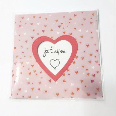 """Carte double """"je t'aime"""" + enveloppe"""