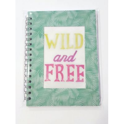 """Carnet à spirales """"wild and free"""", 96 pages"""