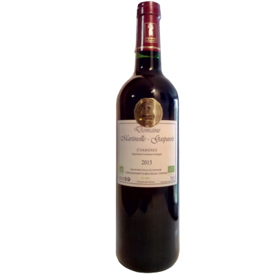 CORBIERES ARTISANAL ROUGE 2015 BIO Médaille d'OR Macon
