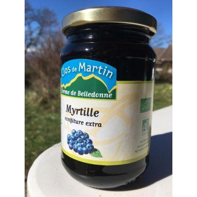 Confiture artisanale bio de Myrtilles sauvages