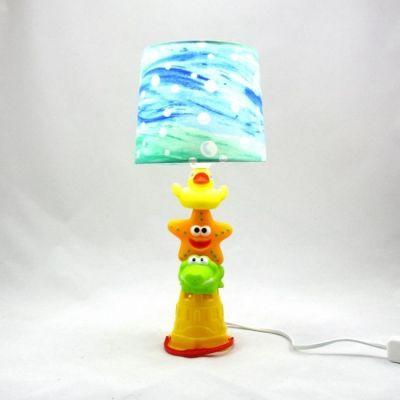 Lampe enfant/bébé animaux sur seau de plage @Rêve de Lampes