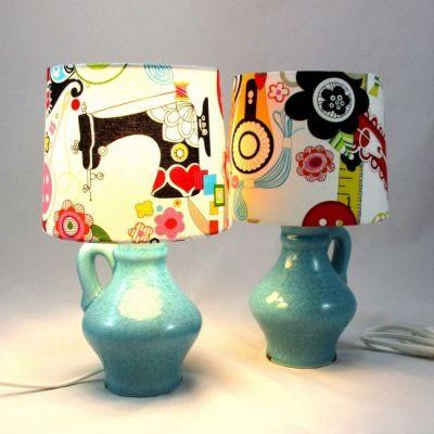 Lampe de chevet poterie céramique craquelée turquoise @Rêve de Lampes