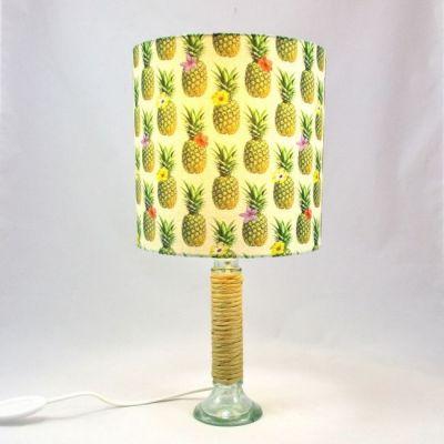 Lampe bougeoir verre abat-jour ananas @Rêve de Lampes