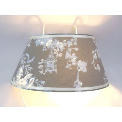 Lampe applique de lit toile de Jouy angelots @Rêve de Lampes