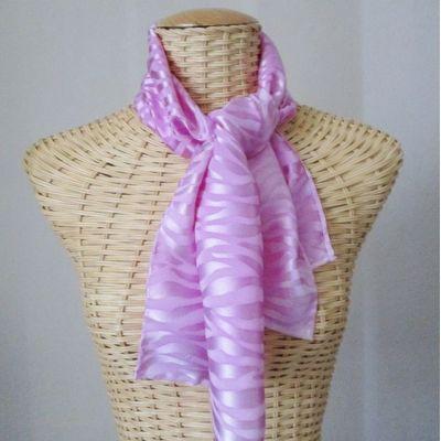 Foulard, écharpe en soie brochée magnolia@evysoie