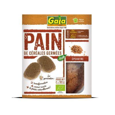 Pain de céréales germées Epeautre 2x100 g