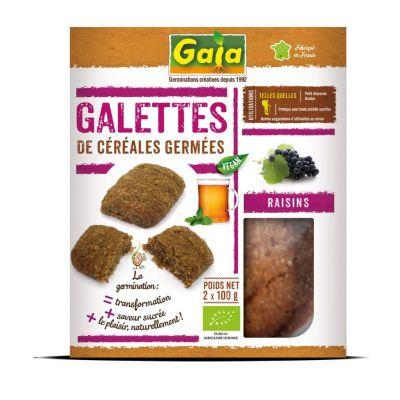 Galettes de céréales germées Raisins 2x100 g