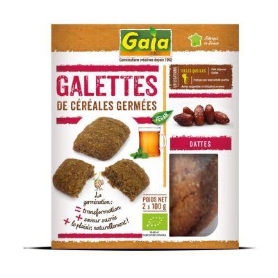 Galettes de céréales germées Dattes 2x100 g