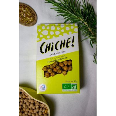 POIS CHICHES GRILLÉS – PACK MOUTARDE & ROMARIN (3X90G)