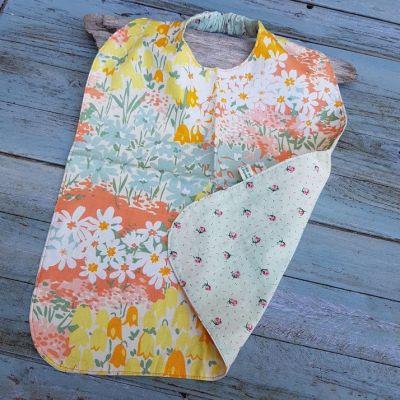 Serviette à élastique pour enfant coton imprime fleurs