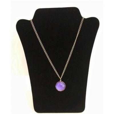 Collier pendentif violet nacré
