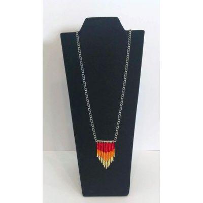 Collier franges de perles