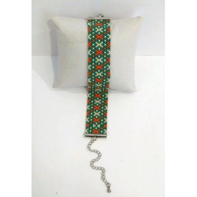 """Manchette en perles japonaises """"Bérangère"""""""