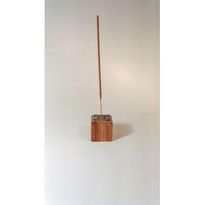 Porte encens peint au point en bois (Chêne) 100% récup
