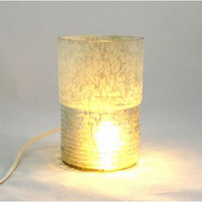 Lampe photophore blanc doré @Rêve de Lampes