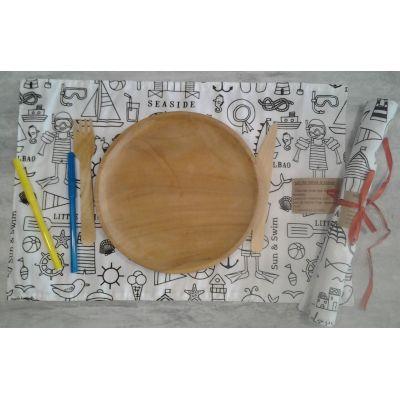 set de table a colorier marin