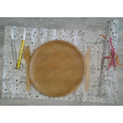 set de table a colorier alphabet
