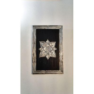 Tableau d'inspiration orientale en métal repoussé - 100% Récup' (planche et canettes)