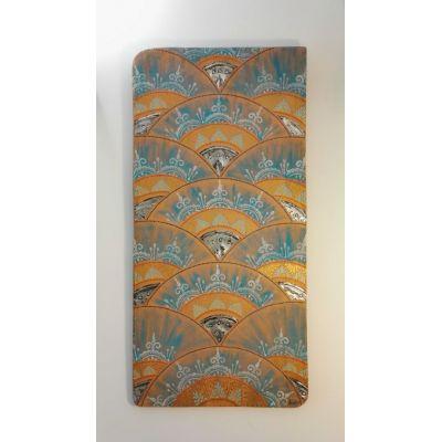 Grand Tableau Peinture motifs Esprit Oriental en métal repoussé