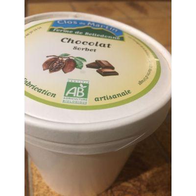 Sorbet artisanal bio Chocolat noir