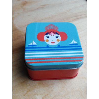 """Coffret boite métal La Sablaise, triptyque mini-savons """"sans huiles essentielles"""""""