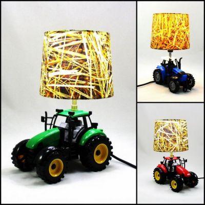 Lampe tracteur abat-jour paille SUR COMMANDE - Rouge