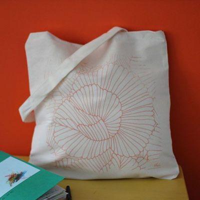 "tote bag ""Flower Power"""