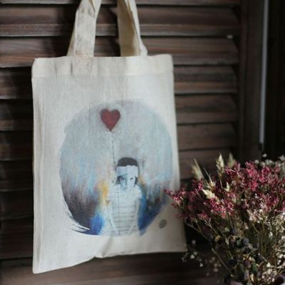 "Mini tote bag ""L'amoureuse"""