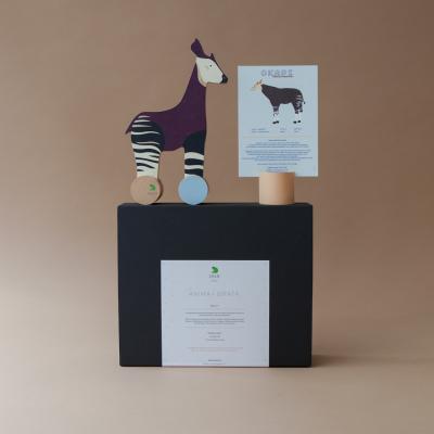 Coffret - L'okapi et sa fiche informative illustrée