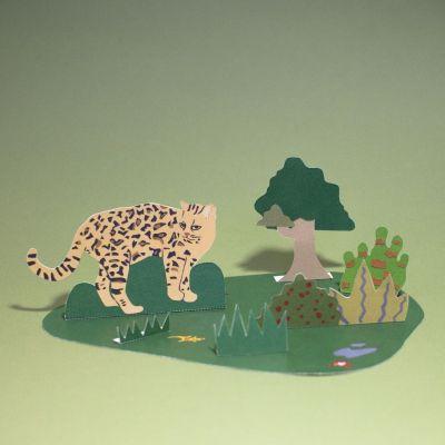 Diorama. L'oncille et son habitat.