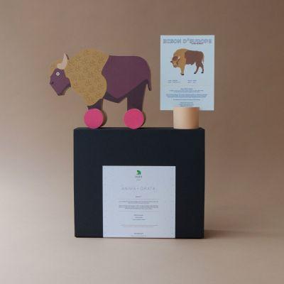 Coffret - Le bison d'Europe et sa fiche informative illustrée