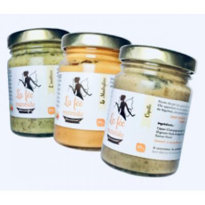 Lot de 3 sauces très pauvres en sel Madrylène, Cépille, Anéthine