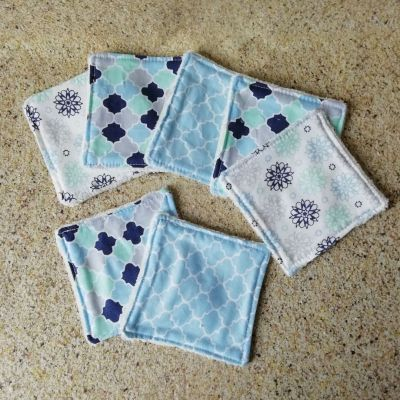 7 Lingettes lavables Mosaïque